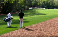 Spieth and his caddie had a fascinating chat before one of the most impressive shots of the Masters