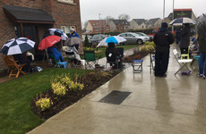 People have been queuing in the rain for houses in Dublin since Monday morning - they go on sale on Friday