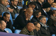 Fuming Guardiola blames referees for City's Euro exit