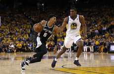 No Curry, no problem as Warriors rout Spurs on opening night of NBA playoffs