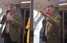 Michael O'Leary bought a load of passengers a drink after he delayed their flight