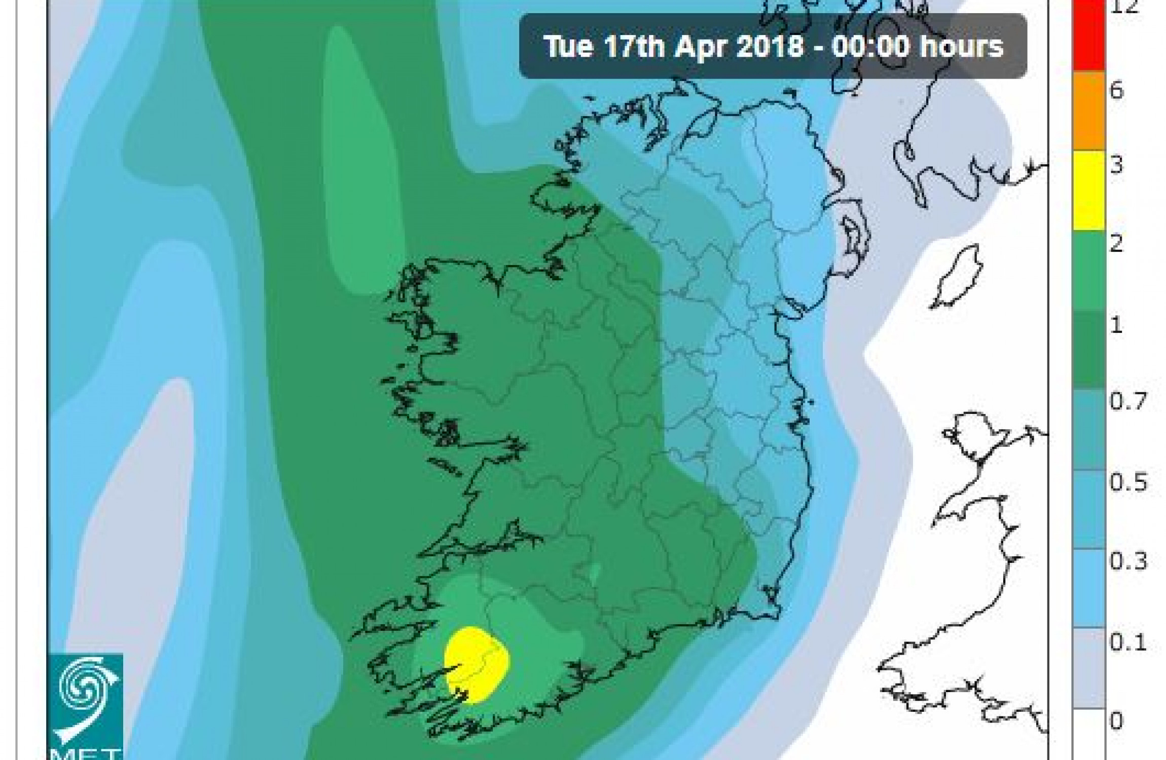 Met Eireann Weather Forecast for the week ahead