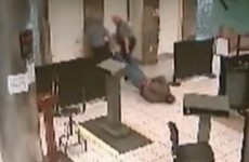 Airport security investigated over video of man being dragged face-down