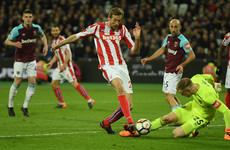 37-year-old Crouch comes off the bench to score, but it's not enough to hand Stoke much-needed win