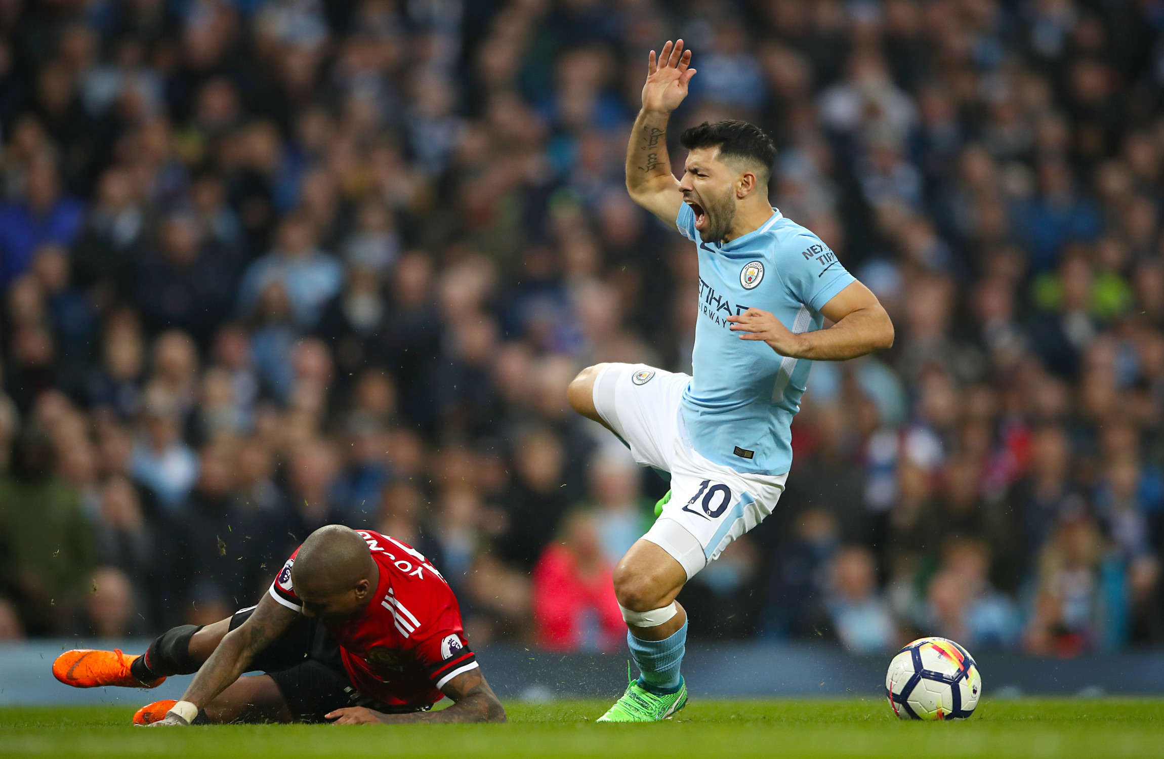 Sergio Aguero out of action for the rest of the season