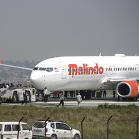 Plane with 139 people on board skids off runway causing chaos at Kathmandu airport