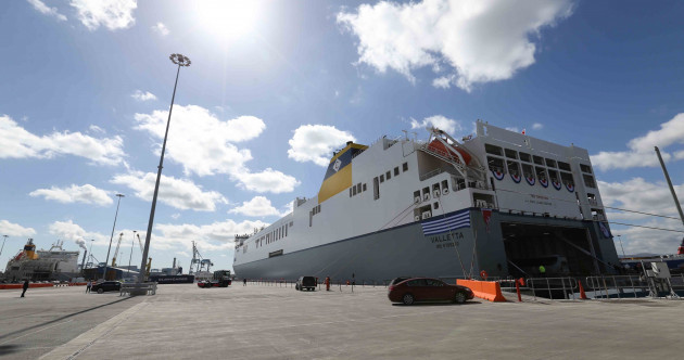 World's largest roll-on/roll-off vessel christened at Dublin Port