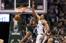 Bucks beat Celtics, LeBron leads Cavs as NBA playoffs get tied up