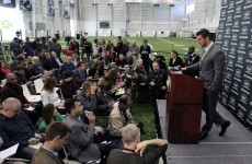 Tebow the Jet: Celebrity backup touches down in New York and meets media