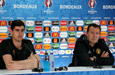 Chelsea keeper Courtois to sue former Belgium coach Wilmots