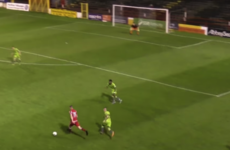 Shelbourne striker completes hat-trick with 35-yard stunner