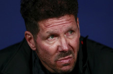 Atletico boss Simeone admits 'there's no excuse' for his behaviour at Arsenal