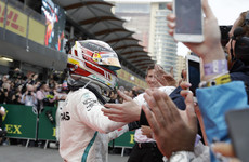 Off the mark! Fortuitous Hamilton wins chaotic Azerbaijan Grand Prix to lead title race