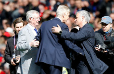 Class act: Arsene Wenger honoured by Fergie ahead of last game at Old Trafford
