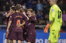 Barca crowned champions with four games to spare after Messi bags 30th La Liga hat-trick