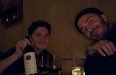 Brooklyn Beckham surprised dad David on his birthday and his reaction is pretty damn cute