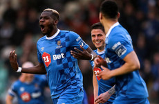 Waterford draw level with the leaders after Akinade's brace sinks Dundalk