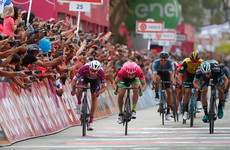 Ireland's Bennett pushes Viviani all the way in dramatic stage finish at Giro d'Italia