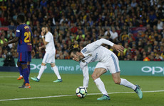 Bale helps Real earn a draw against 10-man Barca as Ronaldo goes off injured