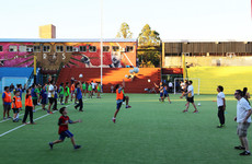 An expedition to Leo Messi's hometown teaching Argentine children the traditions of gaelic games