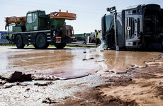 Truck crash spills 12 tonnes of liquid chocolate onto Polish motorway