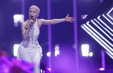 A man is in police custody after invading the stage during the UK's Eurovision performance