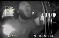 Suspect sings Bohemian Rhapsody in back of squad car. Nails it.