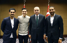 Germany stars under fire over photo with Turkey president