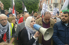 'Stand in solidarity with us': Crowd protests in Dublin at killing of 60 Palestinians by Israeli troops