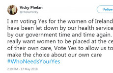 Vicky Phelan calls for Yes vote for women who have been 'let down time and time again'