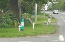 Families of those who died in road accidents 'upset' at placing of white crosses in Donegal