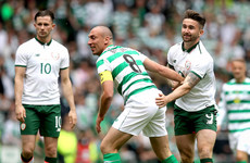 Seven Ireland newcomers and a cameo from Celtic great Larsson as Scott Brown's testimonial ends in draw