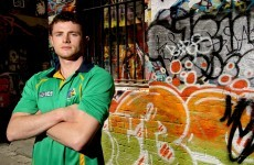 Double goal hero Pearse Hanley shows his GAA skills at MCG