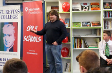 We took Ireland rugby star Shane Byrne back to school to learn about CPR