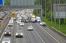 Man seriously injured in 'public order incident' on M50 motorway at rush hour