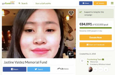 GoFundMe page for family of Jastine Valdez reaches over €80,000 in one day