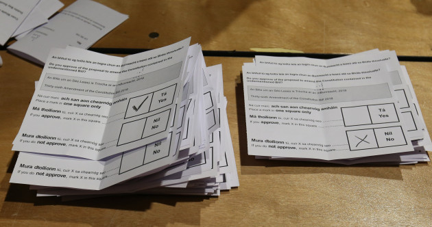 As it happens: Here are the results from each constituency in the Eighth Amendment referendum