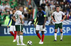 Three debuts made as Ireland go down to Les Bleus at rain-soaked Stade de France