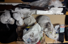 Two arrests after gardaí spot shotgun being passed between vehicles