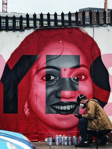 Savita mural artist: 'I've been painting a long time, I've never seen a reaction like that before'