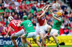 Hayes point grabs draw for 14-man Limerick in Munster hurling thriller against Cork