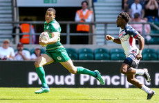 Ireland's speedster Jordan Conroy is lighting up the London 7s with his blistering pace