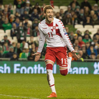 Injury denies Bendtner a place in Denmark's World Cup squad