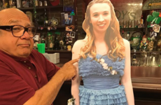 Danny DeVito took a cardboard cut-out of a girl to work with him after she brought a cut-out of him to prom