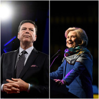Hillary Clinton and James Comey are coming to Dublin on Friday week (separately)