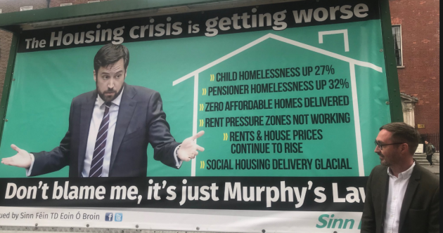 Eoin vs Eoghan: Is Sinn Féin's housing billboard fair game or a PR stunt?