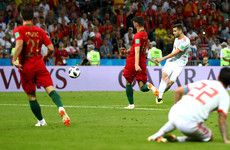 Nacho gives Spain the lead with technically-esquisite rasper that finds its way past both posts