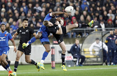 France limit damage against New Zealand after early red card