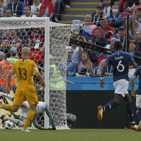 Deflected Pogba effort delivers victory for stuttering French against Australia