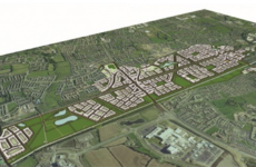 A plan for Dublin's newest town has been given the green light - but not everyone is happy